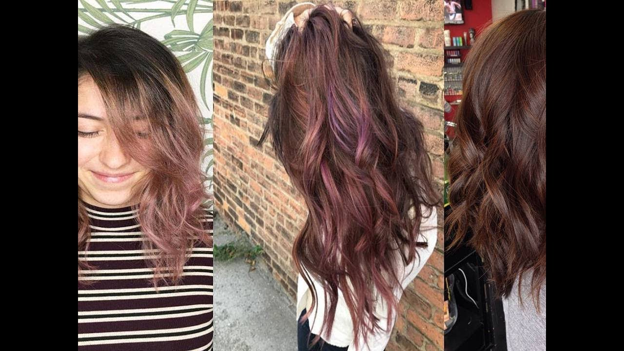 Chocolate Mauve Is One Of The Prettiest Dark Hair Color Ideas Youtube