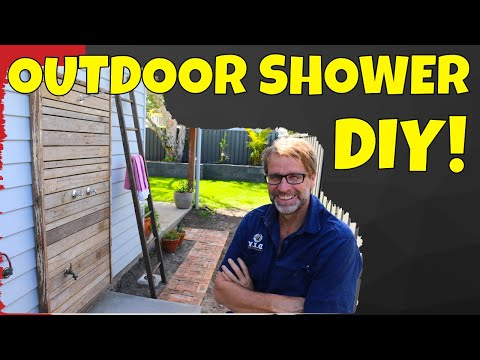 How To Build An Outdoor Shower.