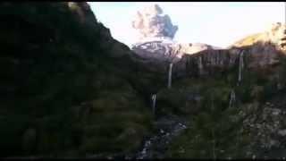 Momento Exacto Erupción Volcán Calbuco En Chile - Exact Moment Of Calbuco Volcano Eruption In Chile
