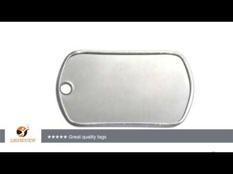 Engravable Blank GI Joe Military Stainless Steel Dog Tag Name Pendant 50 Pcs | Review/Test