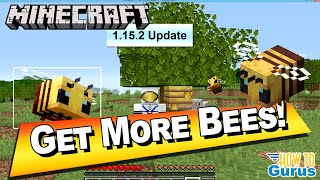 New Minecraft 1.15.2 Update! Get Minecraft Bees to Spawn Easily in Survival Mode!