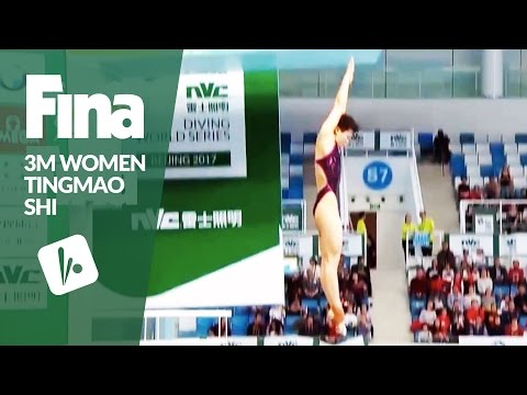 All of Tingmao Shi's 5 Dives! - Women 3m | FINA/NVC Diving World Series - Beijing 2017