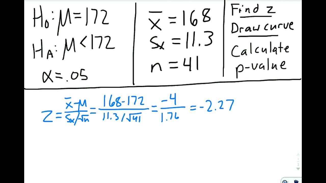 Calculate Pvalue For Means