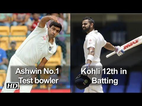 ICC Ranking: Ashwin No.1 Test bowler, Kohli 12th in batting