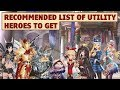 King's Raid - Recommended List of Utility Heroes to Get