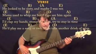 The Ballad of Curtis Loew (Lynyrd Skynyrd) Bass Guitar Cover Lesson with Chords/Lyrics