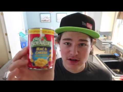 Chef boyardee mac & cheese in a can taste test YouTube
