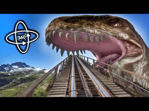 ???? 360° VR VIDEO Roller Coaster ???? Dinosaurs Jurassic World