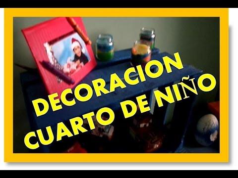 como hacer decoracion para cuarto de niño (reciclando) - YouTube
