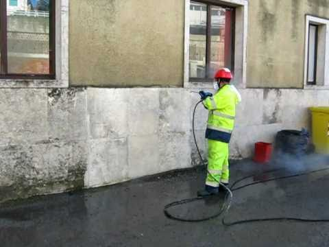 Dimostrazione cicli lavaggio per pulizia da muschi e - Pulire fughe piastrelle da olio ...
