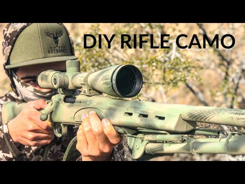 Painting A COYOTE HUNTING Rifle For Under $15! CAMO Is KEY!