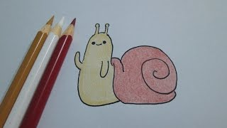 How to draw Snail from Adventure Time