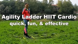 Quick Agility Ladder HIIT Training - Outdoor Workout # 3