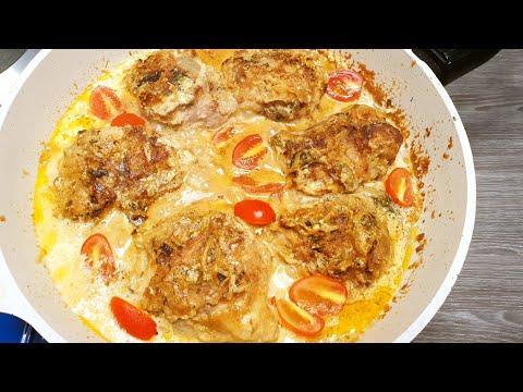 Нереально Сочная курица в соусе за 30 мин. Что приготовить из курицы? Куриные бедра на сковороде!