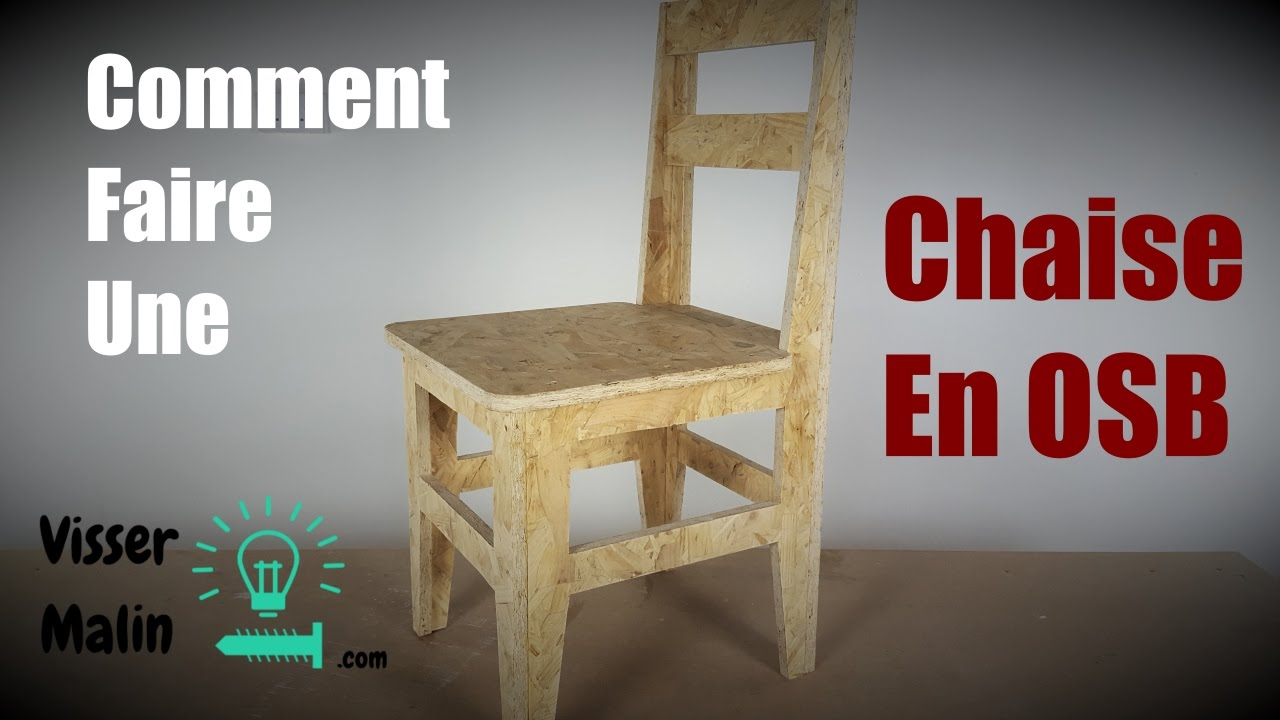 Modele Meuble Tv Comment Faire Une Chaise En Osb - Youtube