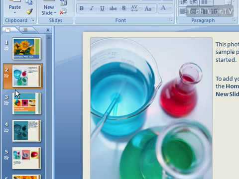 how to add new slide in powerpoint 2007