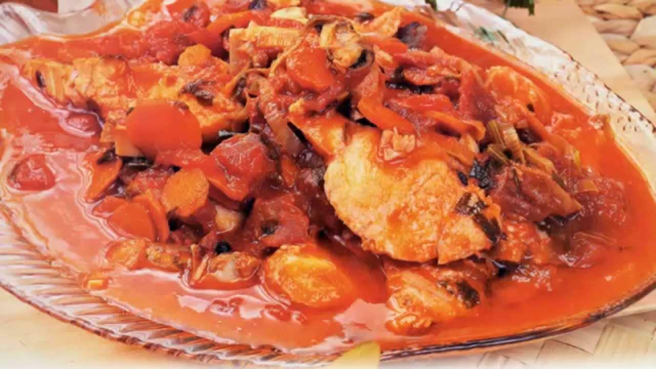 Горячие вторые блюда на НОВЫЙ ГОД 2017, новогоднее меню! Вкусное жаркое из рыбы судака с овощами New