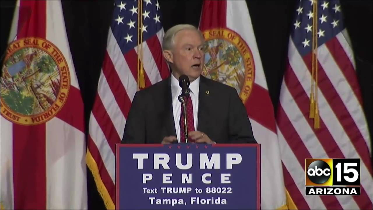 FULL: Jeff Sessions discusses traveling with Donald Trump on the ...
