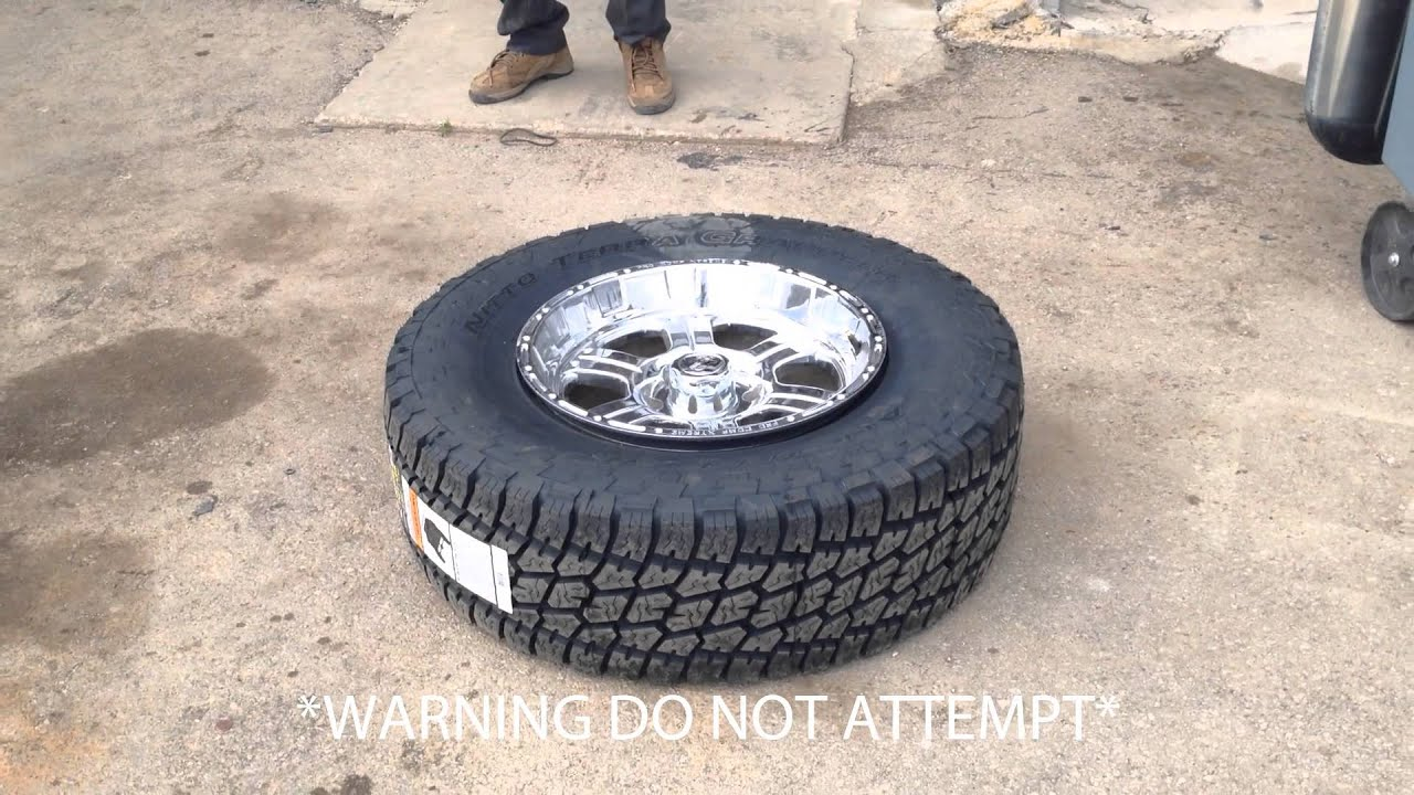 Seal Tire To Rim Using Fire 1stop Auto Shop Okc Youtube