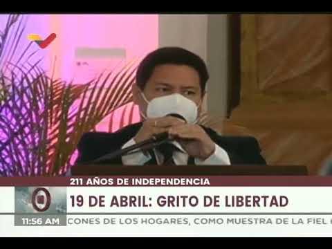Actos por el 19 de Abril de 1810 a sus 211 años en el Concejo Municipal de Caracas