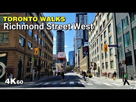 Toronto Walks - Richmond Street West [4K60]