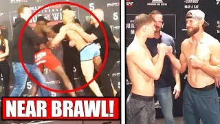 scuffle-breaks-out-at-bellator-weigh-ins-ufc-ottawa-weigh-ins-reactions-to-brock-lesnar-retirement