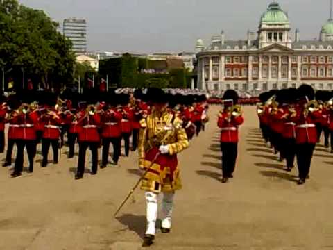 Trooping the colour Band up close  Grenadiers Slow March 2010