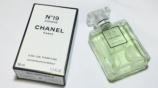 CHANEL No 19 POUDRE PERFUME WHAT A FAKE LOOKS LIKE