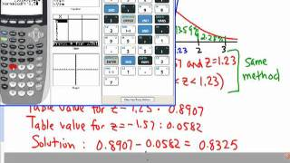 Statistics - Normal Distribution, Using TI-83/84
