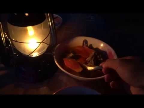 แกงส้มมะละกอ กินใต้แสงตะเกียงน้ำมันก๊าด