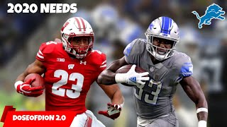 5 Positional NEEDS For 2020! Kerryon Johnson REPLACEMENT? Detroit Lions Talk