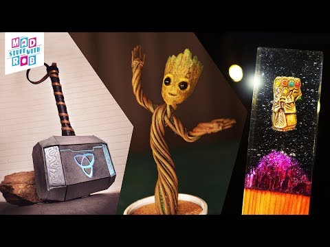 3 AWESOME MARVEL projects you can make at home | DIY