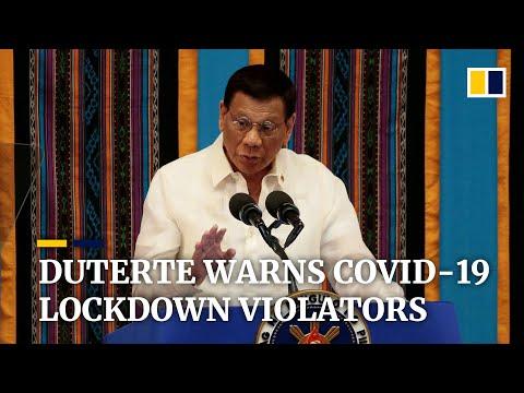 'Shoot Them Dead': Philippine President Duterte Warns Coronavirus Lockdown Violators