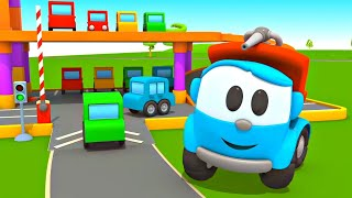 Вантажівка Льова. Пісенька + мультик. Розвиваючі мультики для дітей