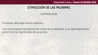 Definición de la Etimología