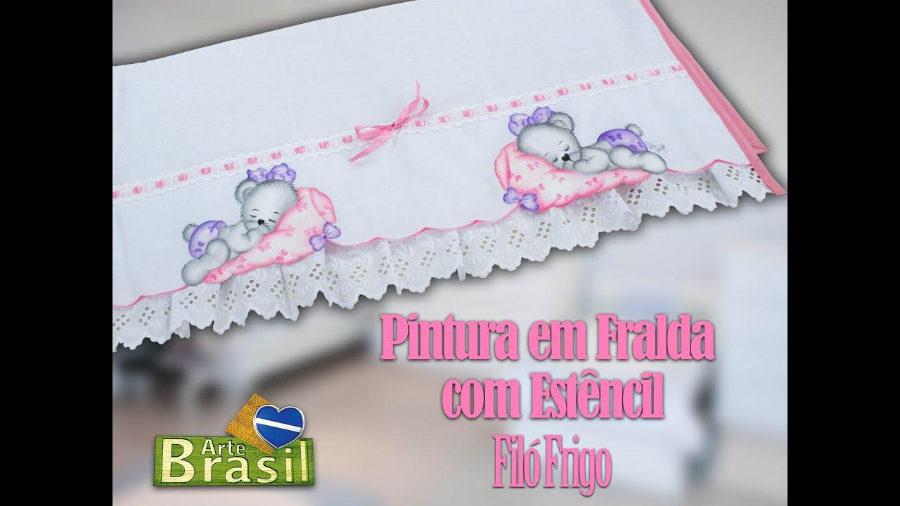 Pintura Em Fraldas Guia Completo Revista Artesanato