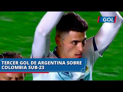 Gol De Julián Carranza Para Argentina 3-1 Colombia Sub-23, En Partido Prepratorio