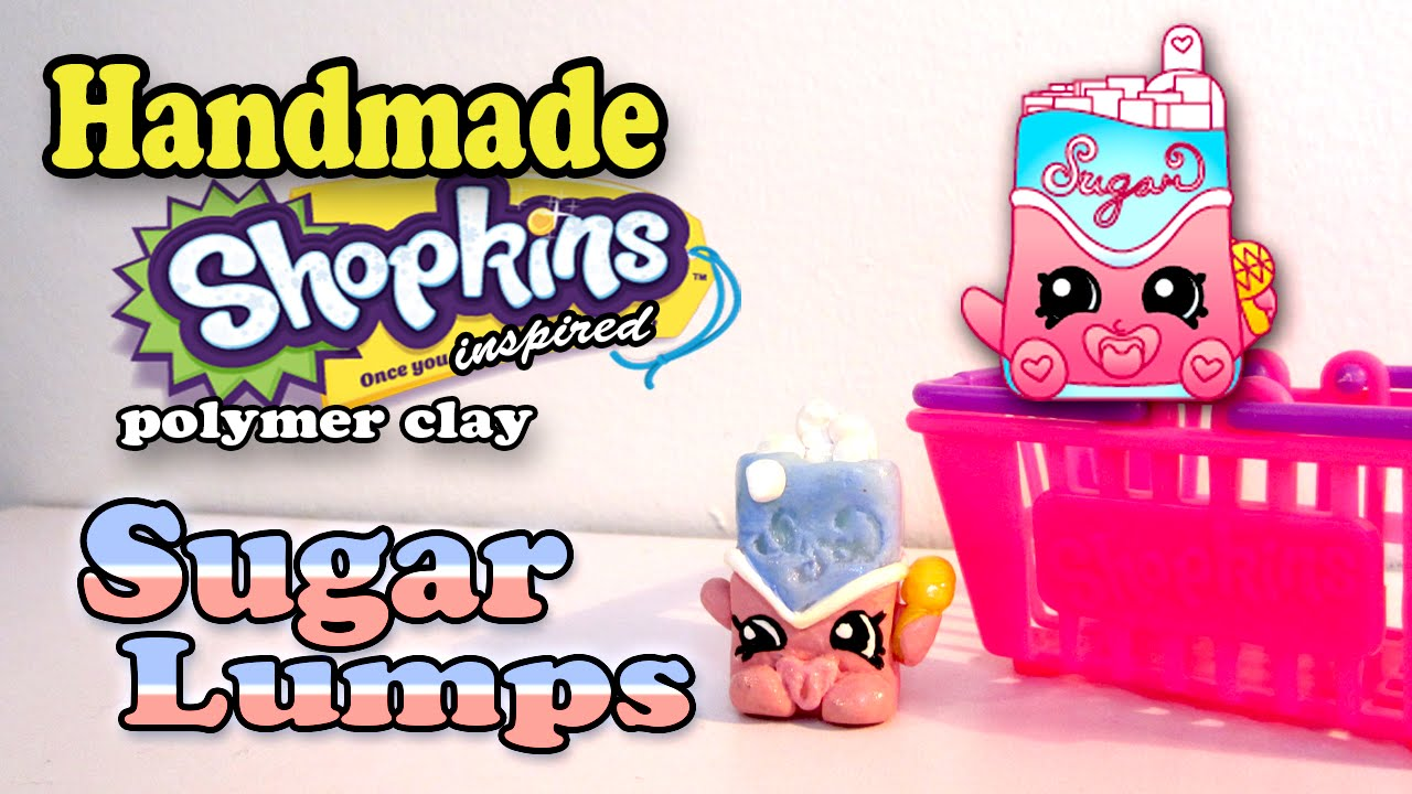 Season 1 Shopkins: How To Make Sugar Lumps Polymer Clay Tutorial!   YouTube