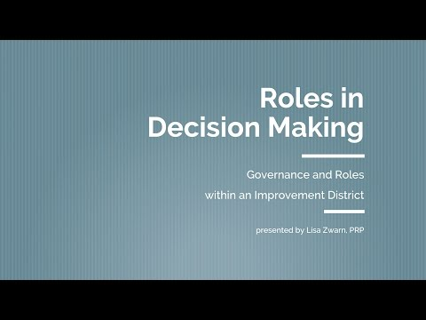 Coastal Water Suppliers Association: Roles in Decision Making