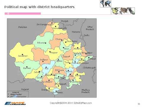 Rajasthan Editable Map