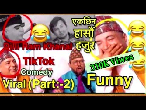 Dilli Ram Khanal Comedy Tiktok Videos || Funny Interview || ( part:-2) Zero Knowledge ||