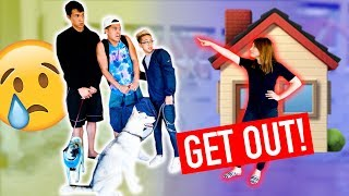 We just moved into our new place and we already got KICKED OUT! Lol...