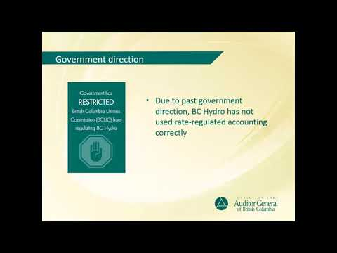 Rate-regulated Accounting at BC Hydro | Auditor General of British