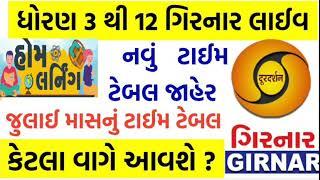 Home Learning Time Table of Gujarat   DD Girnar online education time table Gujarat #Sarkari_Yojana