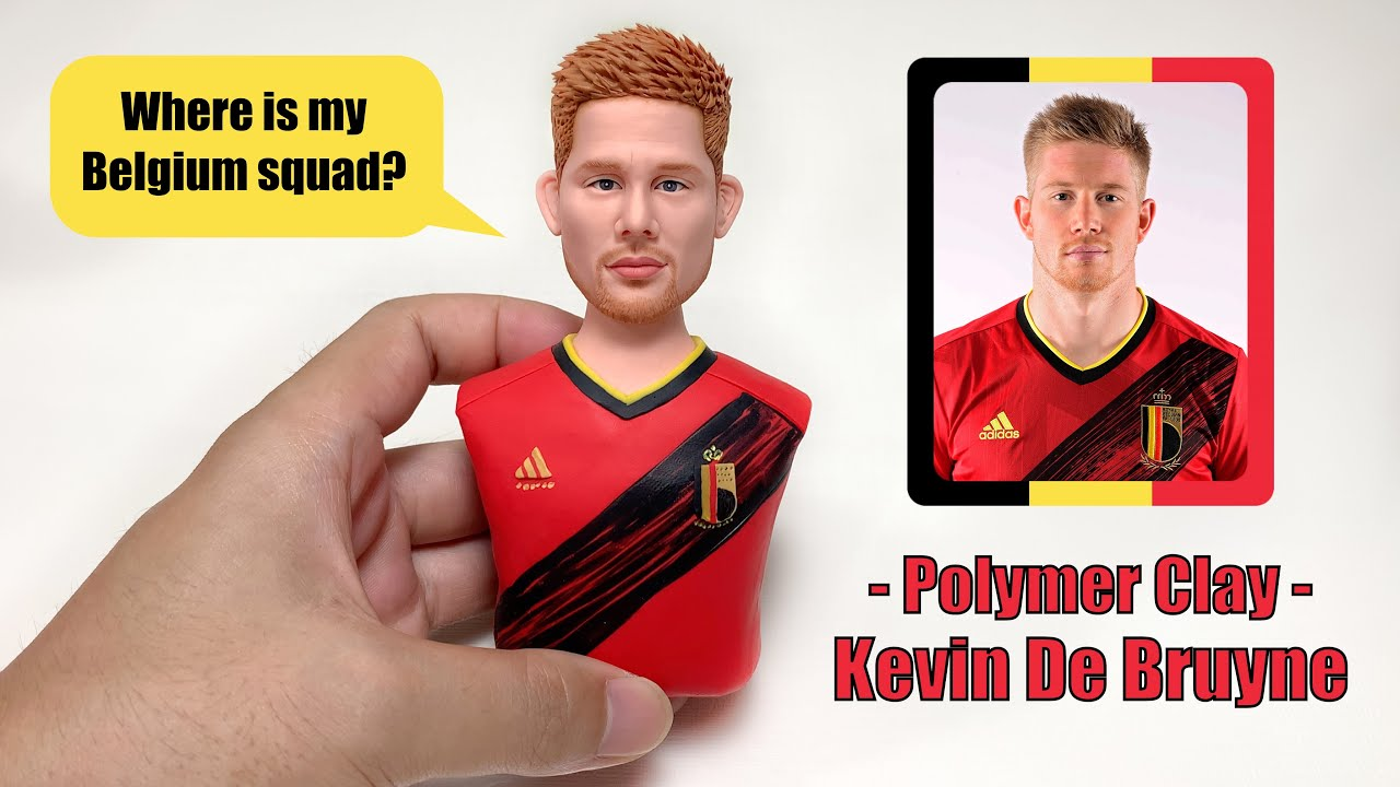 Kevin De Bruyne made from polymer clay, sculpturing process, Belgium go!【Clay Artisan JAY】