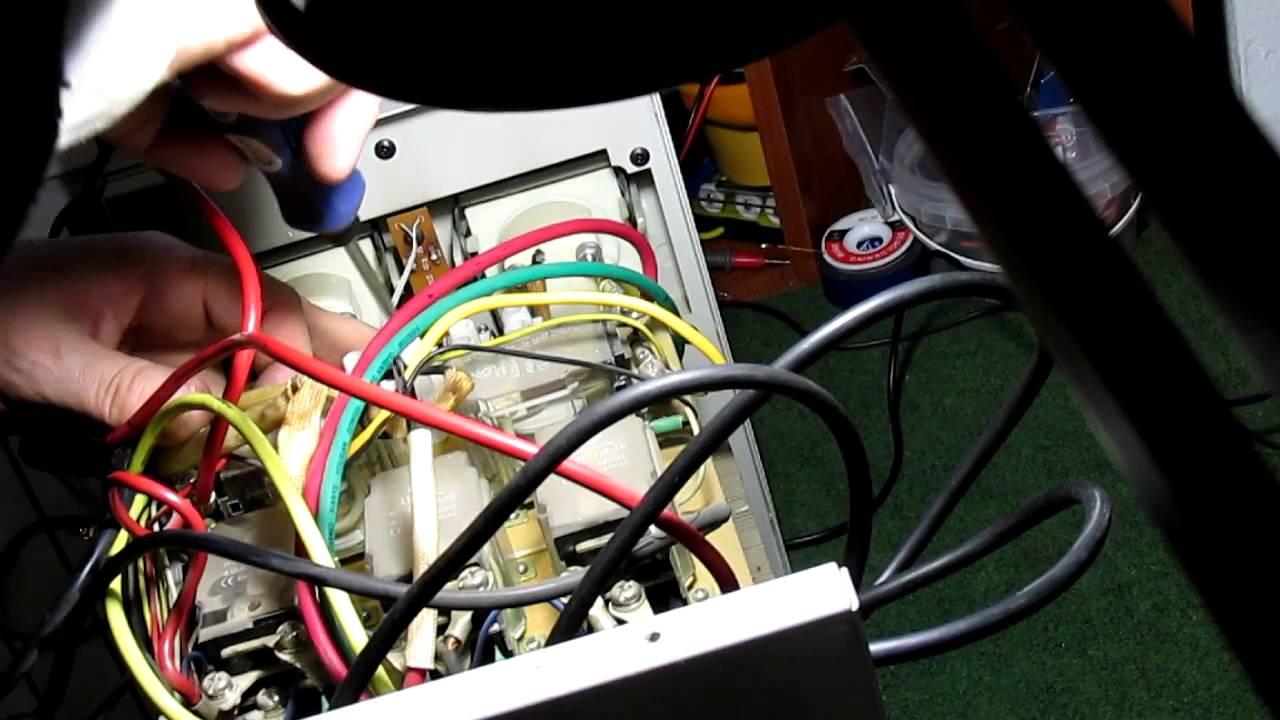 Срабатывание реле напряжения HS Electro и Zubr на осциллографе .