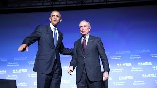 Mike Bloomberg, Penny Pritzker, and President Barack Obama Close the U.S.-Africa Business Forum