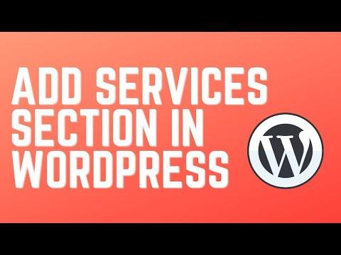 Плагин services wordpress