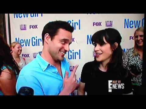 Zooey Deschanel crashes Jake Johnson