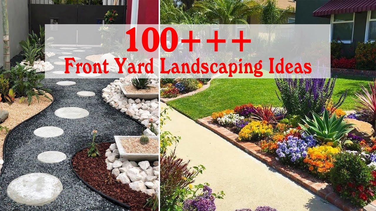 100 Simple And Wonderful Front Yard Landscaping Ideas On A Budget Youtube